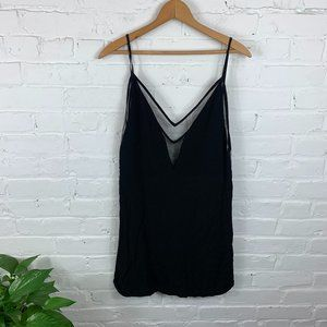 Tobi V-Neck Sleeveless Midi Dress Black Size S